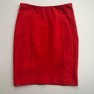 ANN TAYLOR | New Orange Pencil Stretch Skirt 4 S
